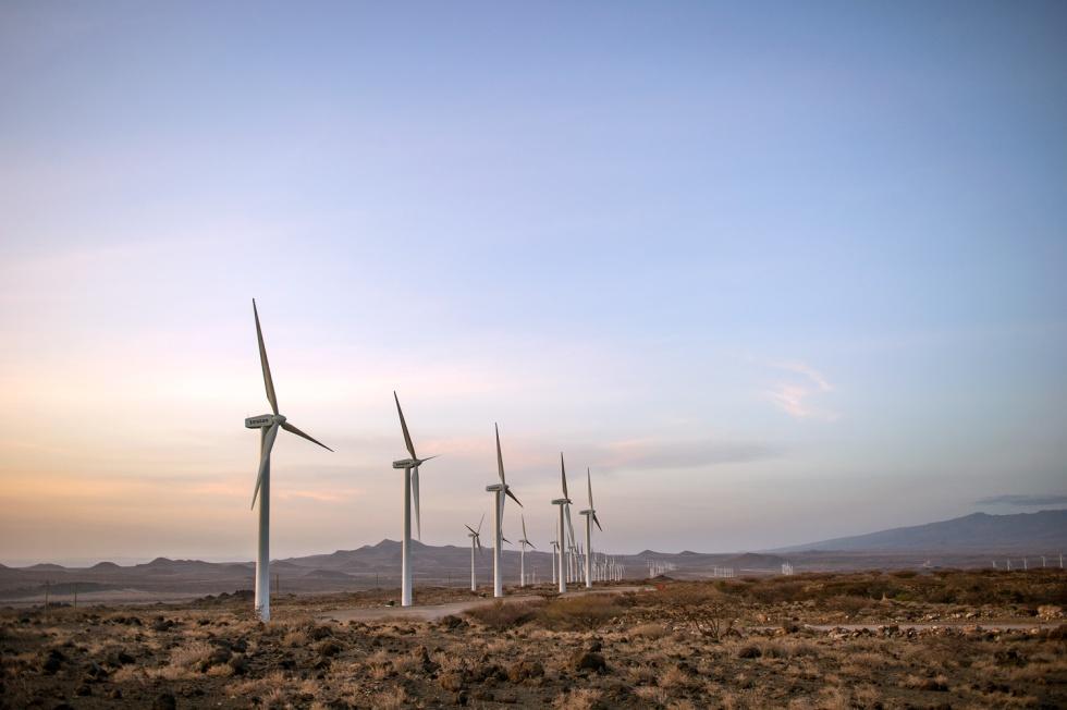 Vestas turbines in Kenya